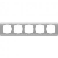 WERKEL Stream Рамка на 5 постов (серебряный) WL12-Frame-05