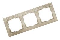 WERKEL FLOCK Рамка на 3 поста (слоновая кость) WL05-Frame-03-white