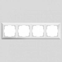 WERKEL FIORE Рамка на 4 поста (белая) WL14-Frame-04