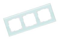 WERKEL FAVORIT Рамка на 3 поста (белый, стекло) WL01-Frame-03