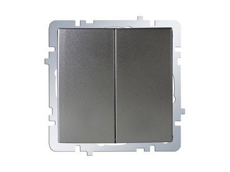 Nilson Touran серебро механизм выключатель 2кл. прох.
