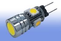 Лампа светодиодная G4 12V 2Вт 4LED5050+1WLED 150Lm warm