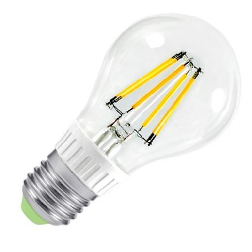 Лампа светодиодная IN HOME E27  5Вт шар A60 прозрачн. 4000К 450Лм