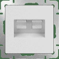 WERKEL Розетка 2-я Enternet RJ45 (белый) WL01-RJ45+RJ45