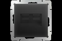 WERKEL Розетка 2-я Enternet RJ45 (черный) WL08-RJ45+RJ45