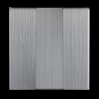 WERKEL Набор клавиш для 3-кл. выключателя (серебро рифленый) WL09-SW-3G-CP