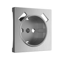WERKEL Накладка для розетки USB (серебро рифленый) WL09-USB-CP