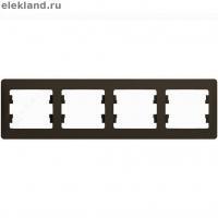 Рамка 4-м GLOSSA гориз. шоколад