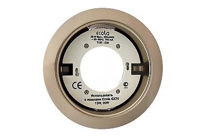 Светильник Ecola GX70 H5 сатин хром