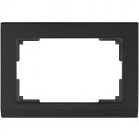 WERKEL STARK Рамка для двойной розетки (черный) WL04-Frame-01-DBL