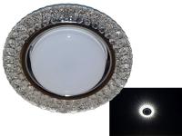 Св-к Estares GX53 4W ES-906 круг хром с подсветкой IP20