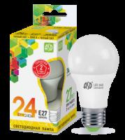 Лампа светодиодная ASD E27 24Вт шар A60 3000К 1600Лм