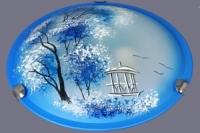 Св-к настенный НПБ 60-001 пейзаж синий