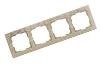 WERKEL FLOCK Рамка на 4 поста (слоновая кость) WL05-Frame-04-white