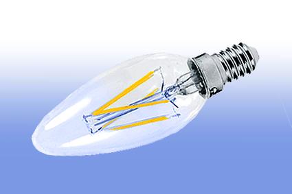 Лампа светодиодная IN HOME E14  5Вт свеча прозрачн. 4000К 450Лм