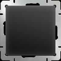 WERKEL Выключатель 1-кл. проходной с подсветкой (черный)