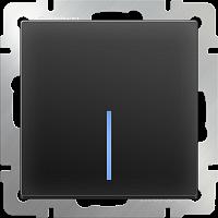 WERKEL Выключатель 1-кл. с подсветкой (черный)