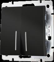 WERKEL Выключатель 2-кл. (черный) WL08-SW-2G