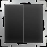 WERKEL Выключатель 2-кл. проходной (черный) WL08-SW-2G-2W