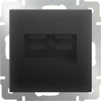 WERKEL Розетка Enternet RJ45+телефон RJ11 (черный)