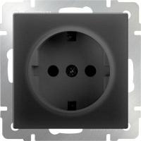 WERKEL Розетка с/з (черный) WL08-SKG-01-IP20