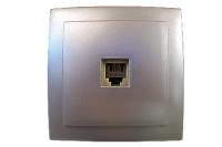 Nilson Themis серебро розетка телеф. RJ11