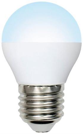 Лампа светодиодная Volpe E27  6Вт шар матовая 4000К 450Лм диммируемая