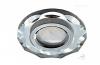 Св-к Ecola DL1653 MR16 круг с вогнутыми гранями хром/хром 29х90