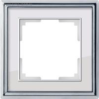 WERKEL Palacio Рамка на 1 пост (хром/белый)