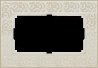 WERKEL FLOCK Рамка для двойной розетки (слоновая кость)
