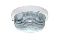 Св-к Ecola ДПП 03-7-001 круг накл.белый прозр. стекло IP65