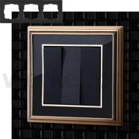 WERKEL Palacio Рамка на 3 поста (золото/черный)