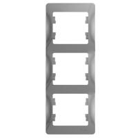 Рамка 3-м GLOSSA верт. алюминий