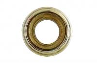 BIRONI Рамка на 1 пост откр. проводки металл. золото