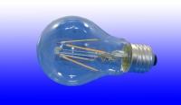 Лампа светодиодная Лисма E27  8Вт А60 филамент прозрачн. 4000К 800Лм