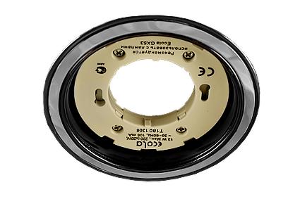 Светильник Ecola GX53 H4 черный хром хром черный хром