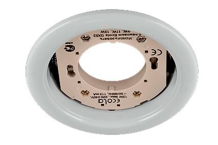 Светильник Ecola GX53 Н4 белый