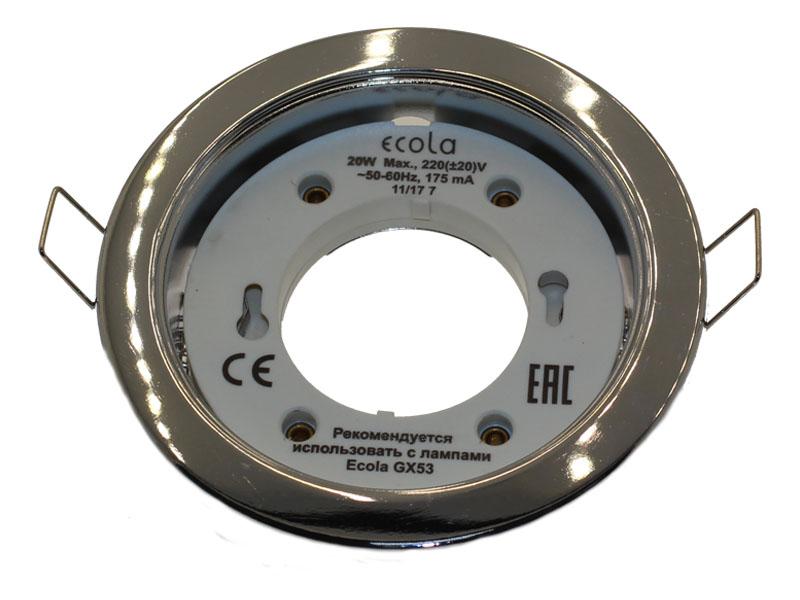 Светильник Ecola GX53 Н4 хром