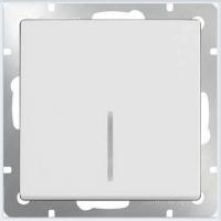 WERKEL Выключатель 1-кл. с подсветкой (белый) WL01-SW-1G-LED