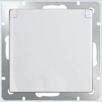 WERKEL Розетка влагозащит. с крышкой с/з, з/ш (белая) WL01-SKGSC-01-IP44