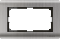 WERKEL METALLIC Рамка для двойной розетки (глянцевый никель) WL02-Frame-01-DB