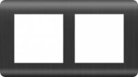 WERKEL Stream Рамка на 2 поста (графит) WL12-Frame-02