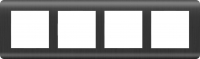 WERKEL Stream Рамка на 4 поста (графит) WL12-Frame-04