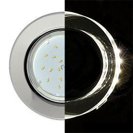 Светильник Ecola GX53 LD5310 стекло круг с подсветкой хром зеркальный