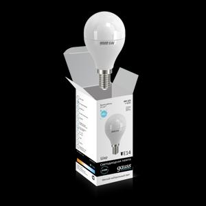 Лампа светодиодная Gauss E14  6Вт Globe Elementary 4100К 450Лм