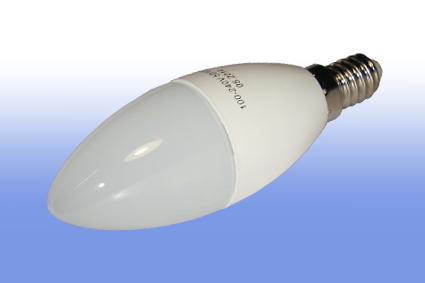 Лампа светодиодная Volpe E14  6Вт свеча матовая 3000К 450Лм