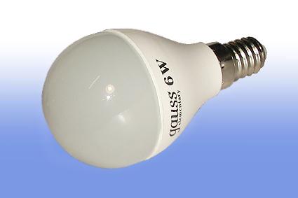 Лампа светодиодная Volpe E14  6Вт шар матовая 4000К 450Лм