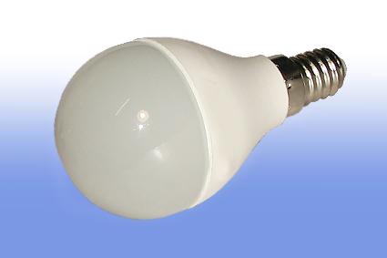 Лампа светодиодная Volpe E14  6Вт шар матовая 3000К 450Лм