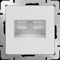 WERKEL Розетка Enternet RJ45+телефон RJ11 (белая)