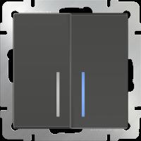 WERKEL Выключатель 2-кл. (серо-коричневый)